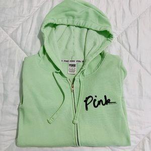 Light Green VS Pink Full Zip Sweatshirt